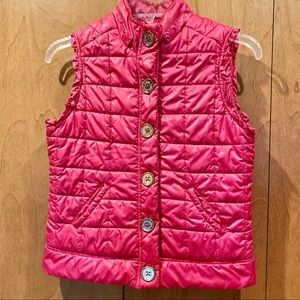 Sz 14 Girls Justice hot pink puffer vest-like new